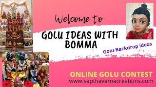 கொலு பேக்ட்ராப் ஐடியா |Golu Backdrop ideas| Bomma Golu Ideas