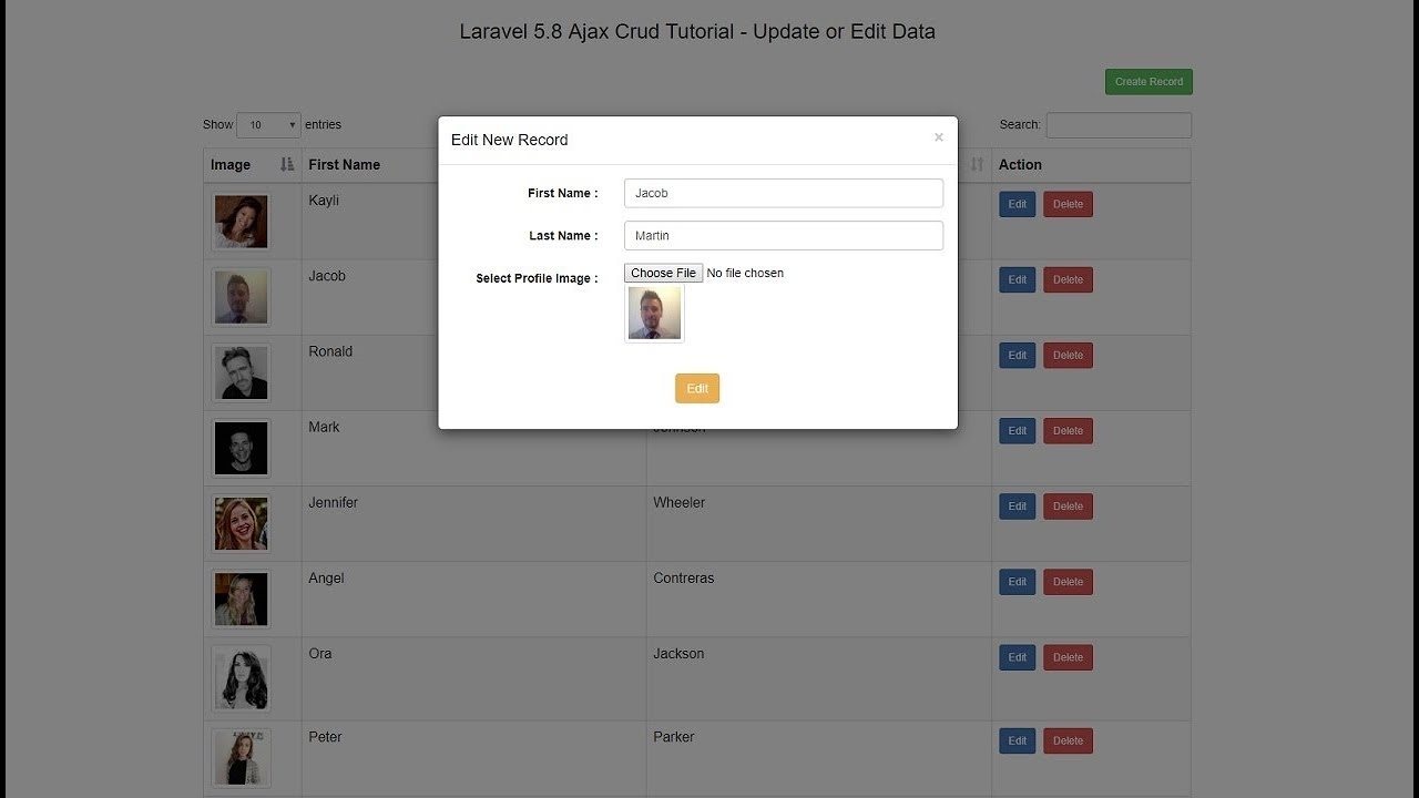 Laravel 5 8 Ajax Crud Tutorial using DataTables | Webslesson