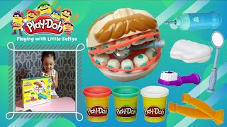 Dr. Drill n' Fill Play doh   unboxing and playing with Little Safiya