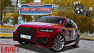 [LIVE 🔴] City Car Driving 1.5.5 - MODS :)   THANK YOU FOR 4000 SUBS ! :D   1080p & 60 fps & G27