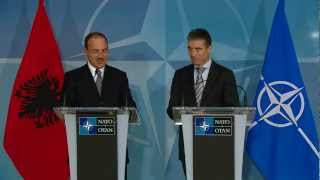 Secretary General - Joint press point with the Albanian President