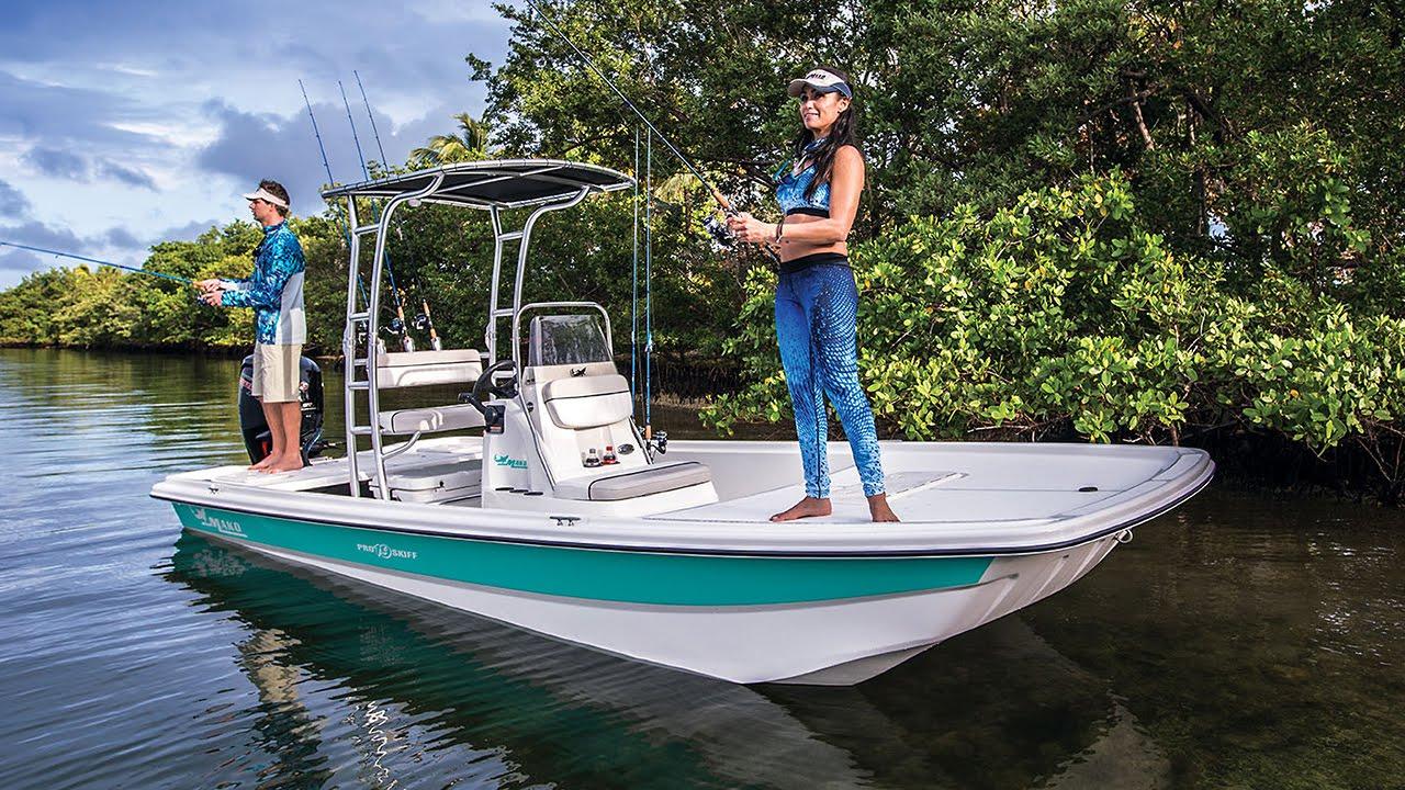 Mako boats pro skiff 19 cc inshore fishing boat youtube for Inshore fishing boats