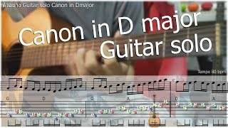 Gambar cover Canon in D Acoustic guitar solo ฟรีTabในเพจ Augsorn.music
