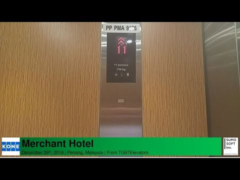 Kone MonoSpace Lifts/Elevators at Merchant Hotel, Penang, Malaysia