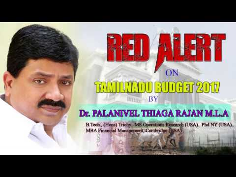 Dr. Palanivel Thiaga Rajan's analyses on deteriorating Financial Situation of TN