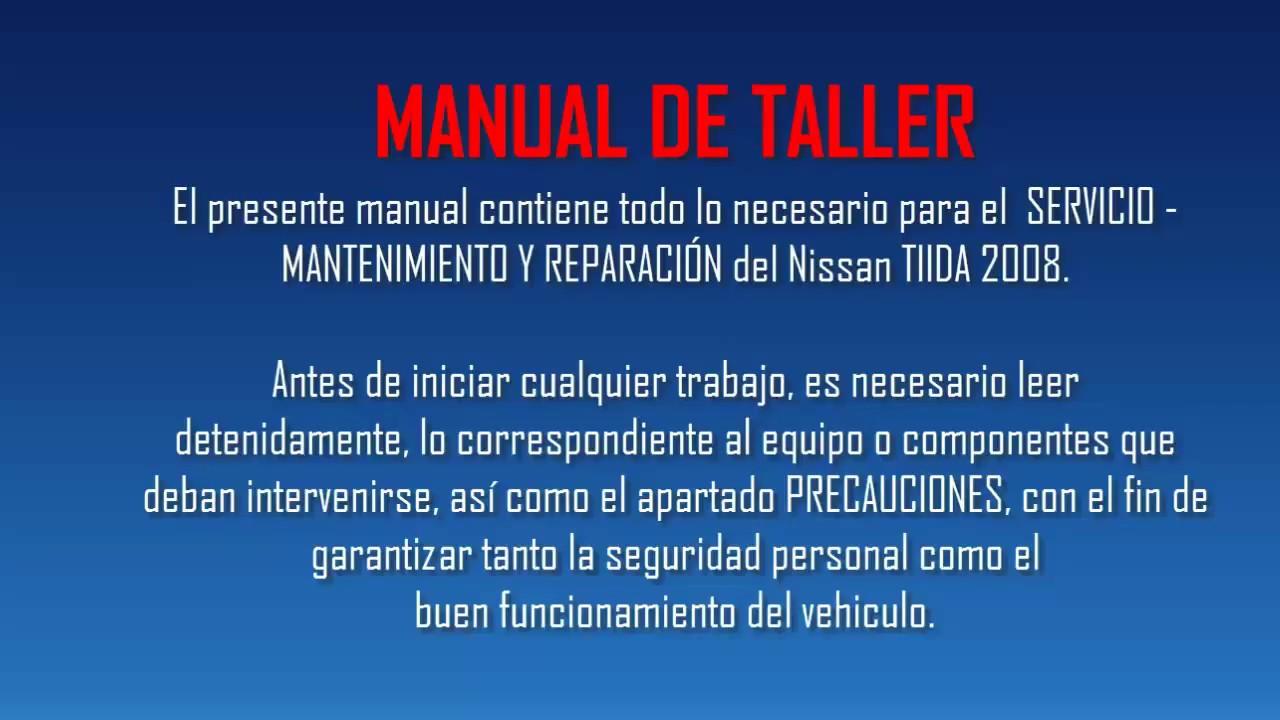 Nissan Tiida 2008  Manual De Taller - Mecanica Y Reparaci U00d3n