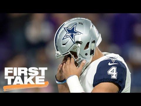 Stephen A. Smith On Dallas Cowboys' Tough Schedule   First Take   April 21, 2017