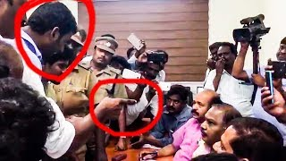 CAUGHT ON CAMERA: VISHAL ANGRY! Argues with RK Nagar Election Officers! | RK87