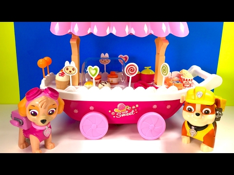 Best Learning Colors & Food Names for Children  - Paw Patrol Ice Cream Cart
