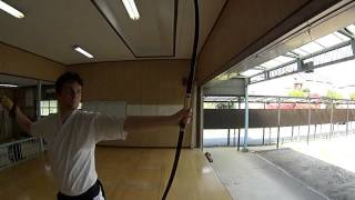 Kyudo (Japanese Archery) Arrow Release in Slow Motion 1