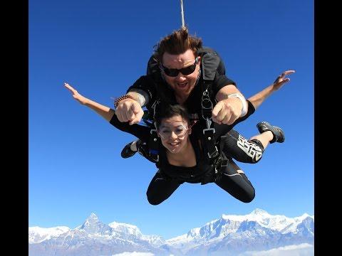 Oshin Sitaula skydive pokhara- explore himalaya