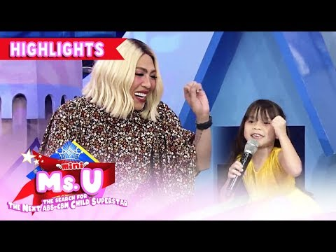 Vice Expresses His Fondness Over Mini Miss U Natalie's Dance Steps | It's Showtime Mini Miss U