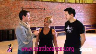 Susie Detmer and Mark Kihara Practice Lindy Hop!