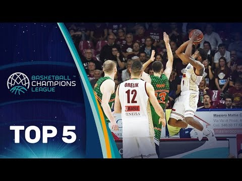 Top 5 Plays - Tuesday - Gameday 1 - Basketball Champions League 2017-18
