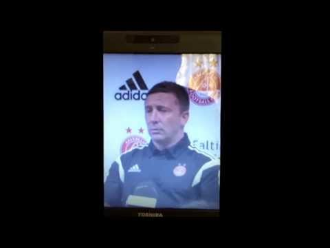 Derek McInnes sticking it to one of the reporters