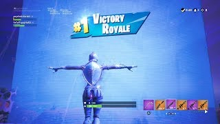 "FORTNITE First Win with ""FROZEN RED KNIGHT"" SKIN (FROZEN LEGENDS BUNDLE OUTFIT GAMEPLAY)"