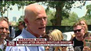 BREAKING: Gov. Rick Scott address mass shooting at Orlando's Pulse Nightclub, 50 killed - 53 hurt