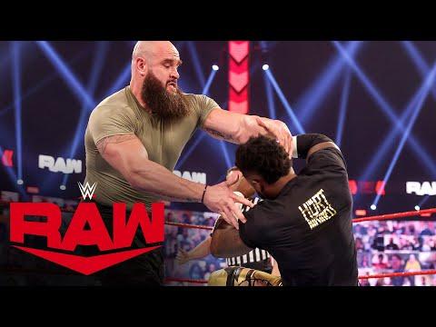 The Hurt Business vs. Braun Strowman & Adam Pearce – Raw Tag Team Title Match: Raw, Mar. 1, 2021