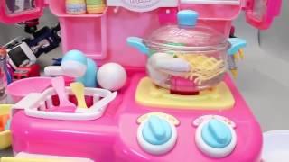 обзор. большой кухни. для девочек. игровой набор.    To Make Ramen Noodle Kitchen Toy Cooking