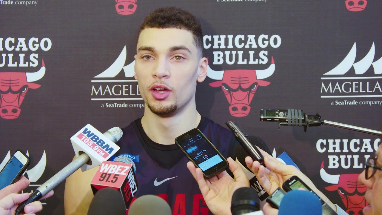 3c55e9d1eb4 Zach LaVine's Return Press Conference. Chicago Bulls