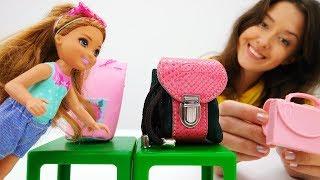 Челси идет в 1 класс! Видео для девочек. Мамы и дочки