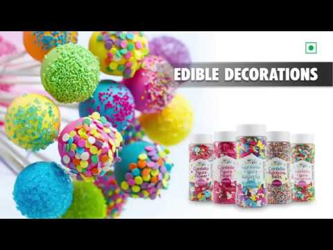 Cake Decoration With Edible Confetti & Sprinkles