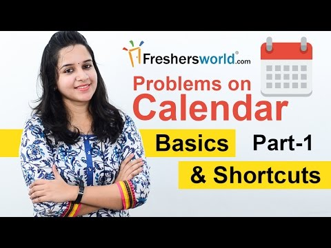 Aptitude Made Easy - Problems on Calendar, Basics and Method