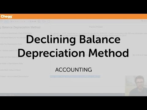 Declining Balance Depreciation Method | Accounting | Chegg Tutors