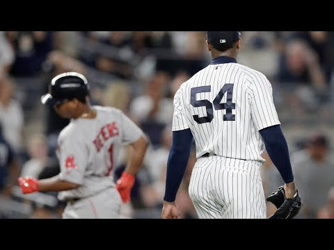 💥YANKEES LOSE TO RED SOX 3-2. IN THE WORST LOST OF THE SEASON.CHAPMAN BLOWS SAVE. JOEZMCFLY VLOG💥