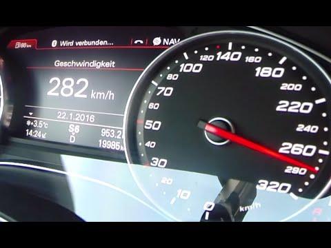 Audi RS7 2016 Sportback 4.0 TFSI Acceleration FAST! 0-282 kmh AUTOBAHN Drive & Sound