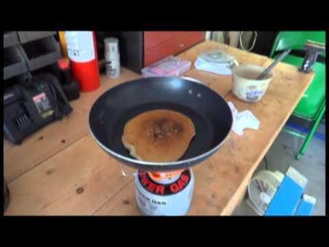 Jet Boil Stove w/ adapter Pancake and Egg test