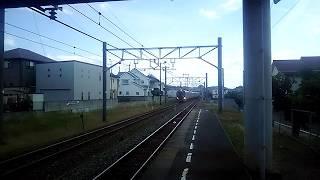JR四国 粟井駅 岡山行き特急しおかぜ・高松行き特急いしづち24号 通過