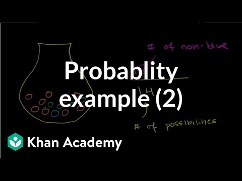 Finding probability example 2 | Probability and Statistics | Khan Academy