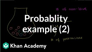Finding probability example 2 | Probability and Statistics | Khan Academy thumbnail