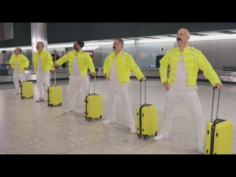 Montez - See How These Airport Workers Honor Freddie Mercury