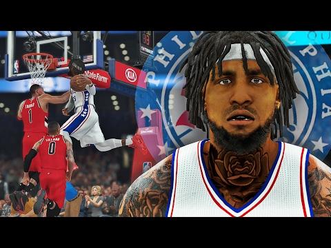 NBA 2K17 MyCAREER SH - New Team Debut! THE WINDMILL DUNK OF DEATH!!!!