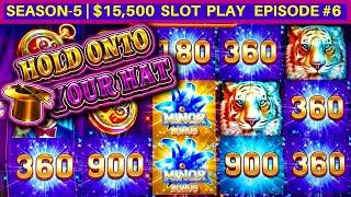 Hold Onto Your Hat Slot Machine Bonus & Big Win | Season-5 | EPISODE #6