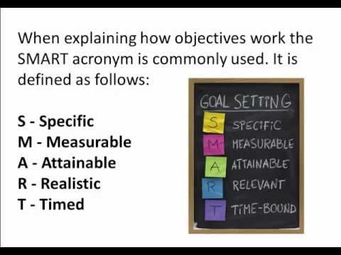 Goals and Objectives - Identifying the Difference