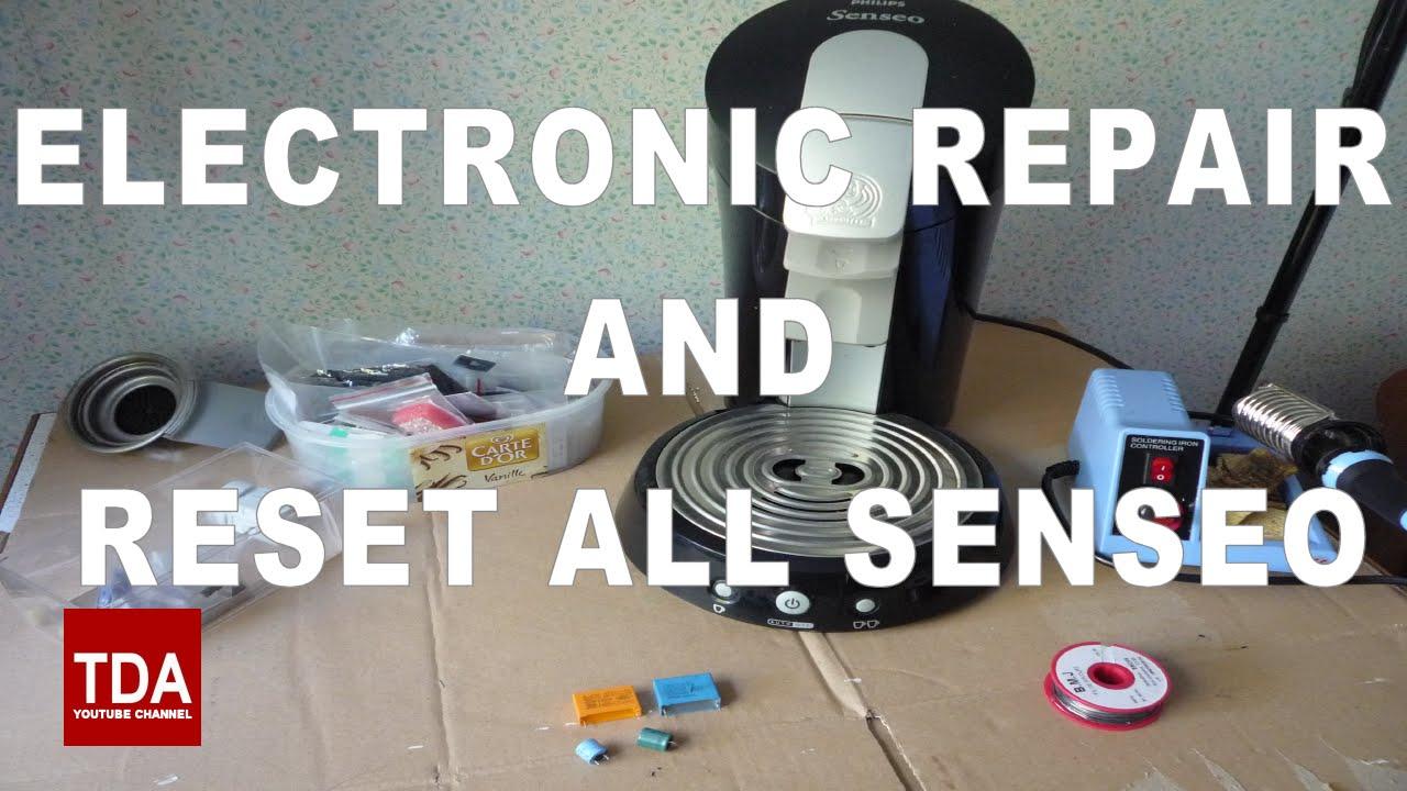 r parer ou reinitialiser votre cafeti re senseo repair. Black Bedroom Furniture Sets. Home Design Ideas