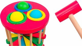 Learn Colors with Pounding Table Ball Ladder Toy Playset for Kids