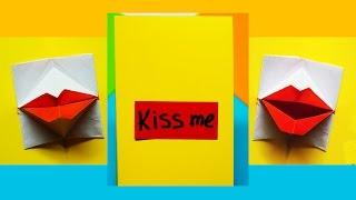Download lagu Greeting card Valentine s day DIY Origami kissing lipsSecret Message Pop up Card Julia DIY MP3