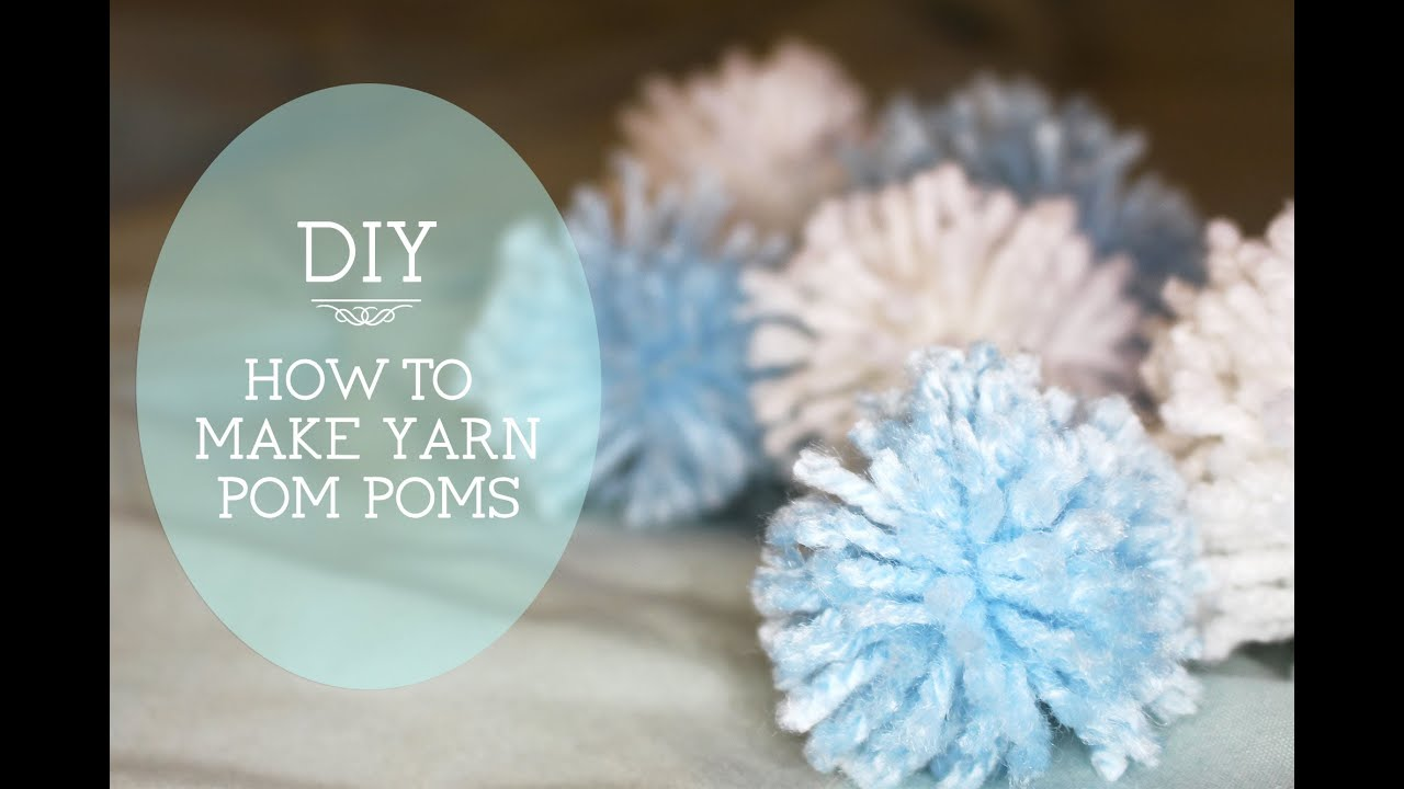diy how to make yarn pom poms with hands only youtube. Black Bedroom Furniture Sets. Home Design Ideas