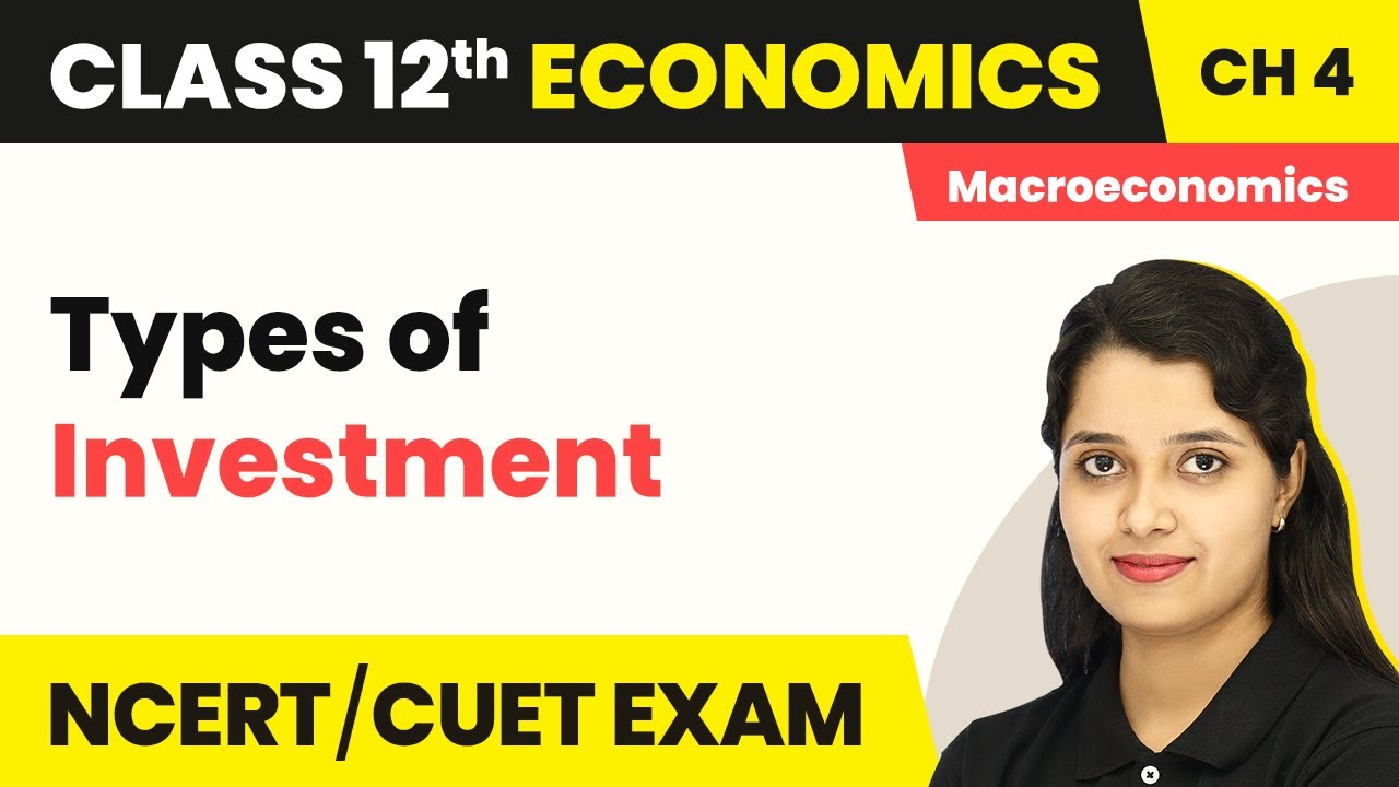 Types Of Investment - Determination of Income And Employment | Class 12 Macroeconomics