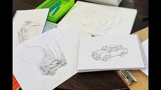 Sketching From Automotive History Workshop