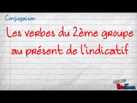 Present Des Verbes Du 2eme Groupe Youtube