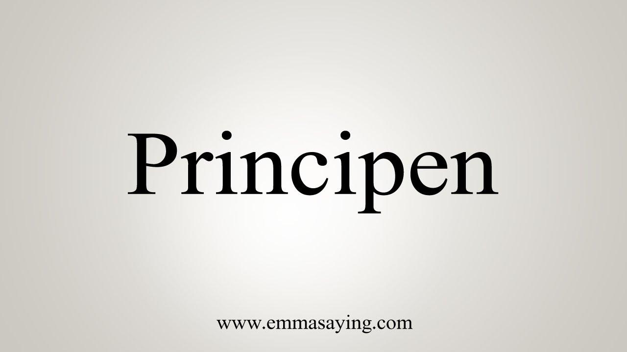 Can You Buy Principen
