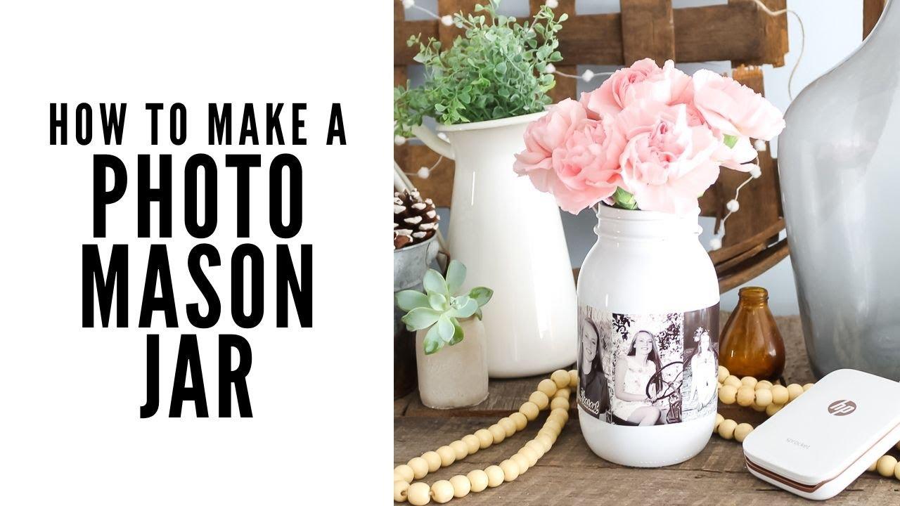 How to Make a Photo Mason Jar