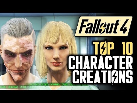 Fallout 4 Top 10 Character Creations PART 2: The Joker, Taylor Swift and Bob Ross!