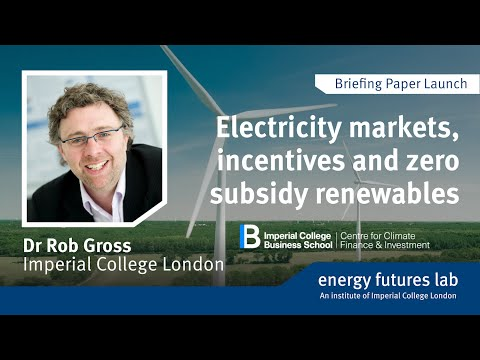 Electricity markets, incentives and zero subsidy renewables