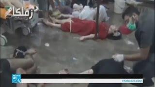 الدفاع المدني السوري: إلقاء عبوات غاز سام على سراقب في إدلب
